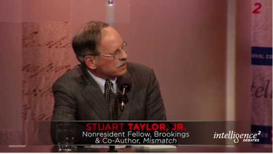 Stuart Taylor, Jr. in a Dec. 3, 2015 debate.